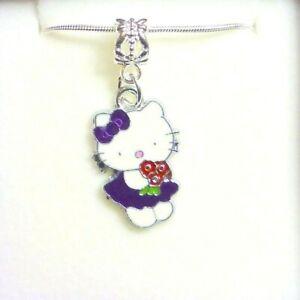 Hello Kitty Necklace Wedding Bridesmaid Flower Girl Birthday  in White  Gift Box
