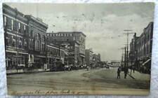 1909 POSTCARD BUSINESS DISTRICT BROADWAY STREET LORAIN OHIO #R4T