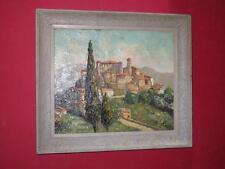 Village De Carros, Peinture époque 20ème, Signée Cermignani.