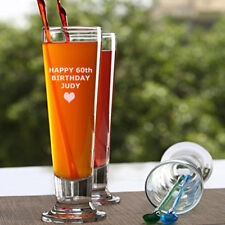 Personalised Tall Cin Cin Beer or Drink Glass Gift Gift GGCTB012-2