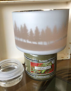 Yankee Candle Holiday Sage Candle Black Band LTD 14.5 Oz. Winterscape Glass NEW