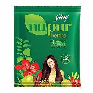 Nupur Henna Mehandi Powder (400g) 9 Herbs Hair Color 100% Natural