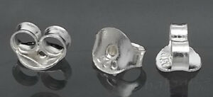 Genuine 925 Sterling Silver Butterfly Earring Backs Clutches Ear Nuts Findings