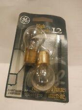 GE High Intensity Bulbs 10690 12S8/93T Miniature Automotive Light  2 pack NOS