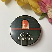 c1950 MCM VTG Typewriter Ribbon Tin-CODO SUPER-FIBER-Woman Typing in the Window