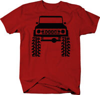 1960's 70's Ford Bronco Lifted Mud Tires Truck  Color T-Shirt