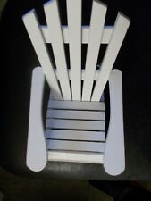 NWT Small Doll Size White Wooden Adirondack Chairs 8 x 7 x 6 (Price is for 2)