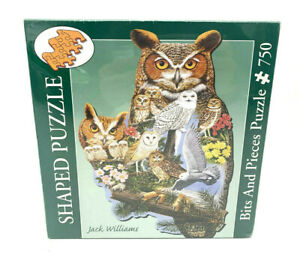 Bits And Pieces Owl Shaped Puzzle 750 Pc Jack Williams 'The Watcher' 43791 NEW