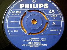 "John Walker-Annabella 7"" vinyle"