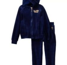 Juicy Couture little girl velour set navy blue size 8/10 Brand new