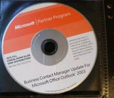 Microsoft Business Contact Manager Update for Office Outlook 2003 disc only