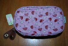 New Clue and Nic of London Make up Bag/Clutch,leather zip tags in pink cost £18