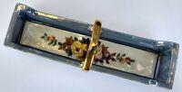 Noritake Morimura Bros Blue Luster Hand Painted Gilt Trinket Tray Vintage
