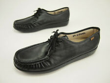 Worn Once! SAS Siesta Black Comfort Moccasin Shoes 11 NARROW