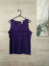 Women's Ann Taylor Loft Top Size M (GUC) Purple