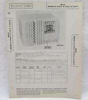 Vintage Photofact Folder Delco Models R-1230A R-1231A R-1232A Radio Parts Manual
