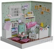 DIY Wooden Dollhouse Miniature with Light Home Decor & Furniture F007