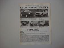 advertising Pubblicità 1982 UAZ 469 B/452 PULLMINO/452 D/LADA NIVA 2121/DNEPR MT