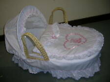 BRAND NEW- MOSES BASKET HEART  DRESSINGS ONLY