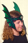 Leather Elven Dragon Winged Head Piece Armor SCA LARP women female armor cosplay