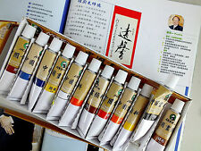 12 CHINESE L WATER COLOR INK 12ml TUBE STICK BRUSH PAINTING JAPANESE CRAFT PAINT