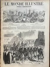 MONDE ILLUSTRE 1857 N 17 ARRIVEE DE L'ARCHIDUC FERDINAND MAXIMILIEN A BRUXELLES