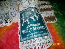WORLD MARKET PRESSED Dog Sweater made w/100% RECYCLED shopping bags M
