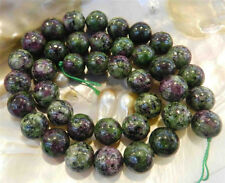 """4mm Red Green Ruby Zoisite Round Loose Beads 15"""" Strand A"""