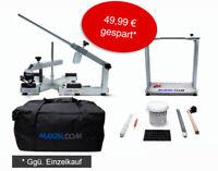Reifenmontiergerät EVOX, Wuchtbock, Starterpaket grau, Tasche - max2h.com