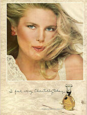 1981 print advertisement CHRISTY BRINKLEY for Chantilly Perfume Houbigant 121314