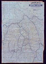 Map of Canadian Pacific Railway Kootenay District British Columbia Gold Mining