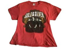LAS VEGAS PAWN STARS GOLD & SILVER Women's Heathered Red T Shirt Adult M EUC