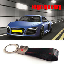 1 Pcs S LINE Sports Brown Color Leather Alloy Key Ring For AUDI ALL MODEL