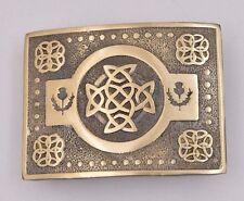 Scottish Thistle Kilt Belt Buckle Antique/Celtic Knot Belt Buckle for Kilt Belts