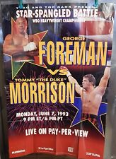 George Foreman Vs Tommy Morrison Boxing Poster Single Sided 27x40 Playboy Rare