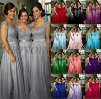 New Chiffon Evening Formal Party Ball Gown Prom Wedding Bridesmaid Dress 2-16