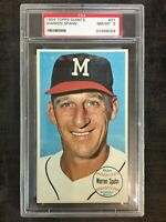 1964 Topps Giants Warren Spahn Braves #31 PSA 8 NM/MT