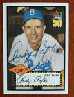 Andy Pafko 2001 Cubs Topps 50th Anniversary Auto SGA 1952 Style Brooklyn Dodgers