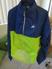 Assos Prosline Yellow/Navy Size 2 (M/L) Cycling Wind Jacket 1990s Mint Condition
