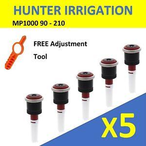 Qty 5: $12.95 ea Hunter Irrigation Rotating Nozzles 5PK MP1000 90 - 210 Pop Up