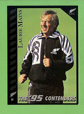 1995 NEW ZEALAND  ALL BLACKS RUGBY UNION CARD  #27  LAURIE  MAINS