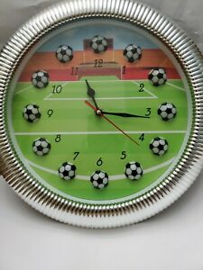 "SOCCER  (FOOTBALL) QUARTZ WALL CLOCK 13"""