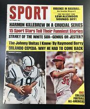 1967 Sport Magazine Johnny Unitas Baltimore Colts Cepeda St Louis Cardinals NL
