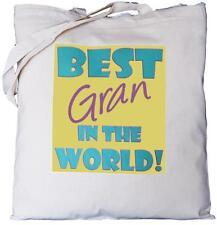 BEST GRAN nel mondo-Cotone Naturale Borsa a tracolla-Padre del Padre's Giorno Regalo
