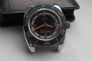 Timex Taucheruhr Medium Handaufzug Vintage 70er Diver Uhr