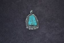 Handmade Sterling Silver and Turquoise Pendant