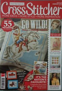 Cross Stitcher Magazine Issue 275 Feb 2104 cowboy puppy tea hearts sneakers