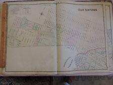 1874 original Beers Map Brooklyn Cypress Hills East New York Nyc City Ocean Hill