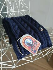 Parajumpers Cable Scarf Navy Merino Wool Blend (New)