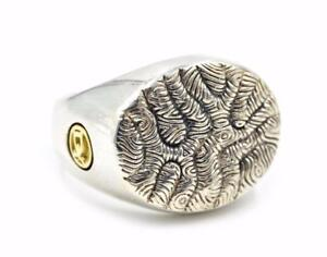 David Yurman Sterling Silver Two-Tone Ring, 20.80 Grams
